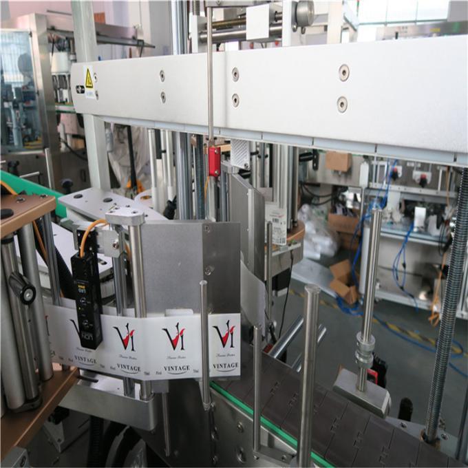 Двустранна кръгла / квадратна / плоска машина за етикетиране на пластмасови бутилки, автоматичен апликатор за етикети на бутилки