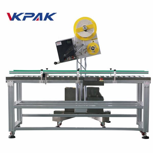 Апликатор за етикети с автоматичен плик за хартиена кутия за малки производства