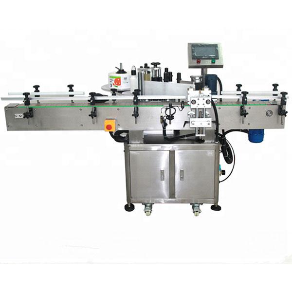 Автоматична двустранна машина за етикетиране на стикери Плоска квадратна бутилка кръгла бутилка