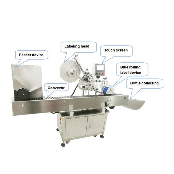Пълна автоматична машина за нанасяне на етикети за бутилки със сертификат CE