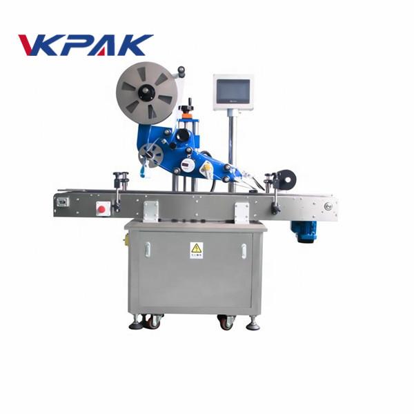 GMP Електрическа плоска автоматична машина за етикетиране на стикери за равнинна бутилка