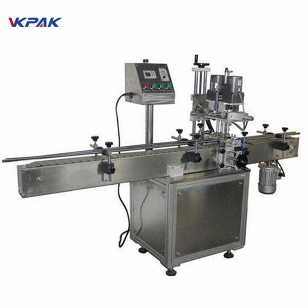 Индустриална двустранна машина за етикетиране на кръгли бутилки за козметични продукти