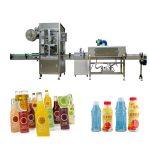 Машина за етикетиране на свиващи се втулки за бутилки за домашни любимци със свиващ се тунел / парогенератор