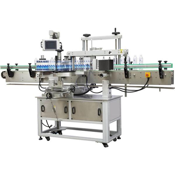 Квадратна обвивка около етикетираща машина
