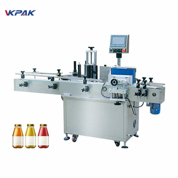 Бутилка за вино Едностранна автоматична машина за етикетиране на кръгла бутилка