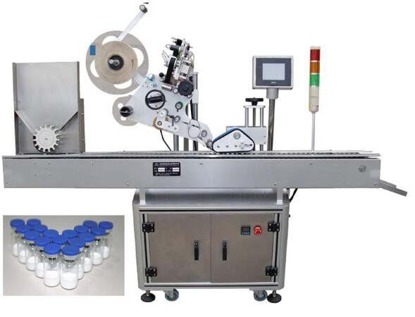 Машина за етикетиране на малки бутилки от 10 мл за фармацевтични продукти