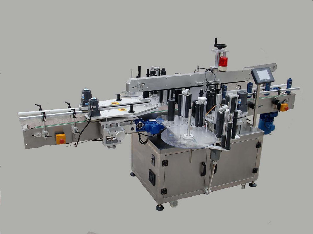 Автоматична машина за етикетиране на двустранни стикери с устройство за пейджинг и машина за кодиране