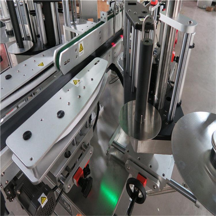 Автоматична машина за етикетиране на стикери CE, машина за етикетиране на предни и задни бутилки