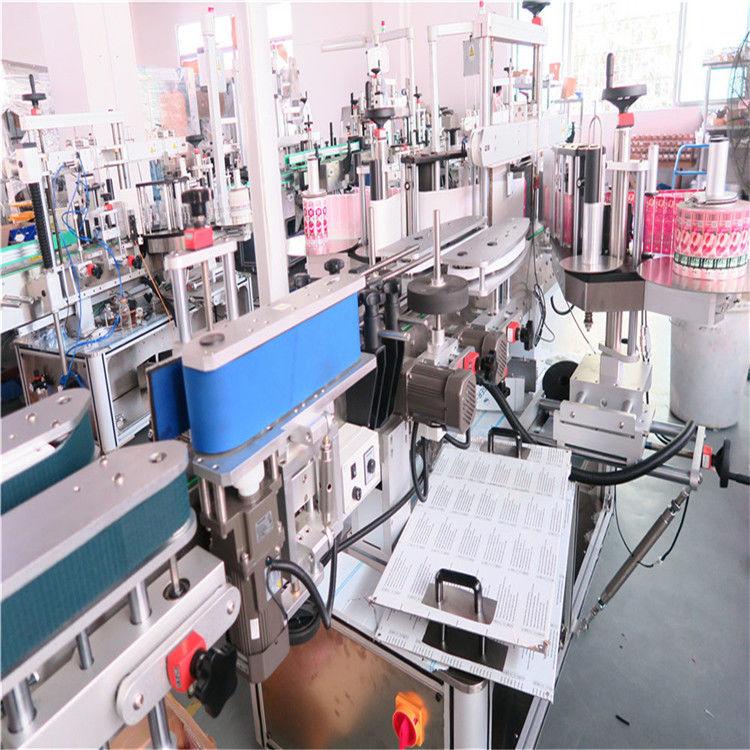 Машина за двустранно етикетиране на бутилки за различни плоски бурканчета с бутилки с плосък квадрат