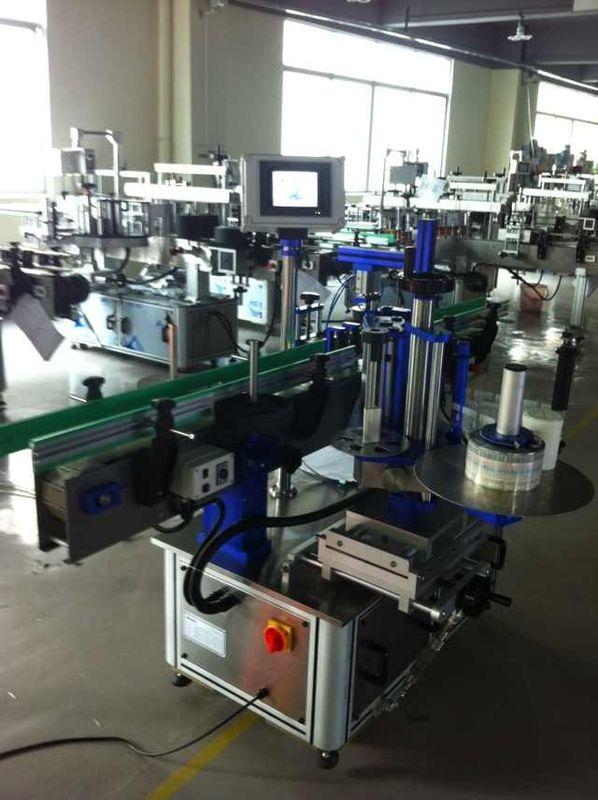 Пълен автоматичен апликатор за стикери, машина за етикетиране на бутилки