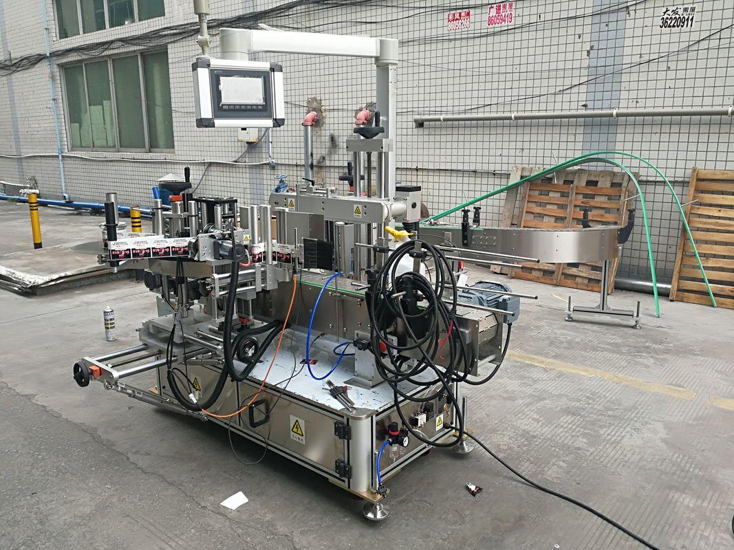 Пълна автоматична лепилна машина за етикетиране на двустранни бутилки с кодер