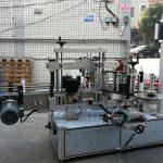 Самозалепваща се цилиндрична / овална машина за етикетиране на бутилки с PLC сензорен екран