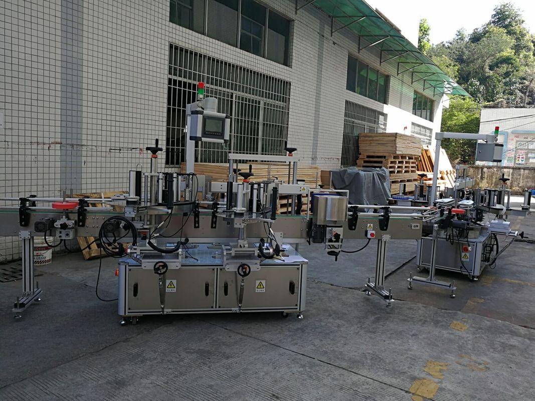 Машина за етикетиране на стикери за плоски / квадратни бутилки Пълен автоматичен капацитет 5000-8000B / H